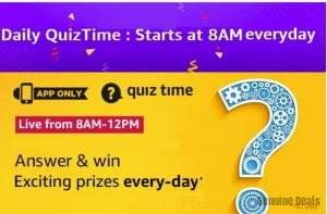 Amazon Quiz 1 June 2020 Answers – Win Exciting Prizes