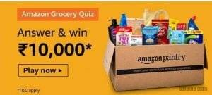 Amazon Grocery Quiz Answers – Win Rs. 10000