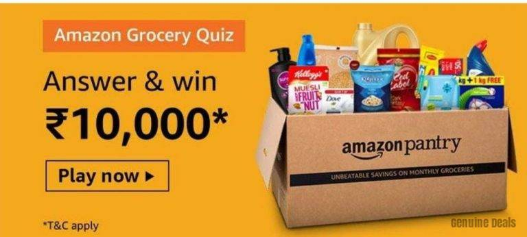 Amazon Grocery Quiz, Genuine Deals
