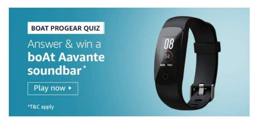 Amazon Boat Progear Quiz Answers – Win Boat Aavante Soundbar